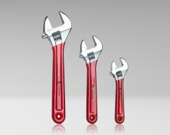 "AW-6810 - 3 Piece Adjustable Wrench Set - 6"", 8"", 10"" with Extra Wide Jaws"