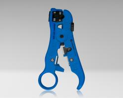 UST-596 - Universal Cable Stripping Tool with Cable Stop for COAX, Network, and Telephone Cables